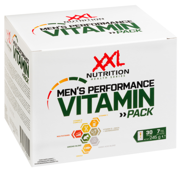 Mens Performance Vitamin Pack- XXL Nutrition 30 Sachets