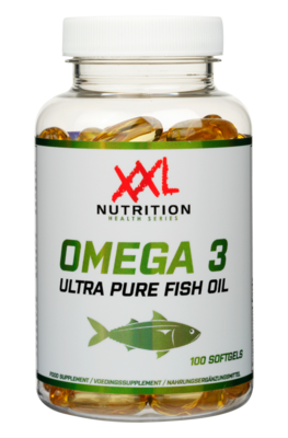 Omega 3 Pure Fish Oil- XXL Nutrition 100 Softgels